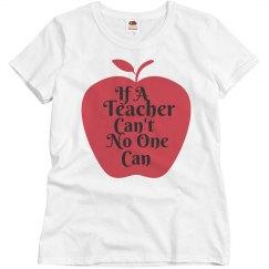 If a teacher can't