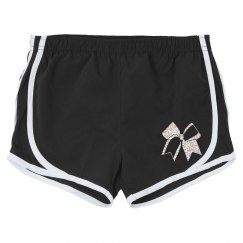 silver glitter zebra shorts