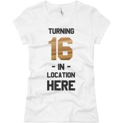 Custom Birthday Tee with Location