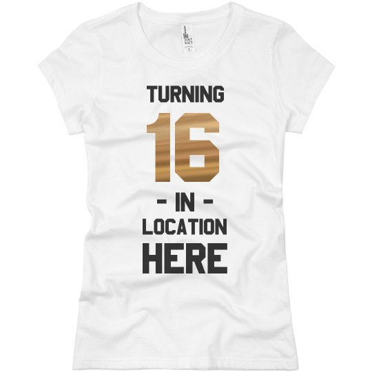 695293cf6 Custom Birthday Tee with Location Ladies Slim Fit Basic Promo Jersey T-Shirt