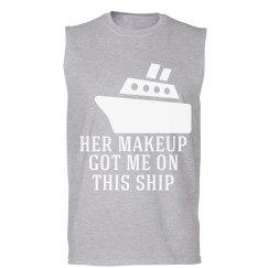 Her makeup, Tank