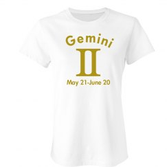 Gemini In Gold