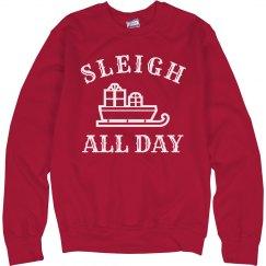 Cute Festive Sleigh All Day