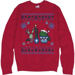 Colorful Cacti Ugly Sweater