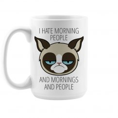 Hate Morning People Large Mug