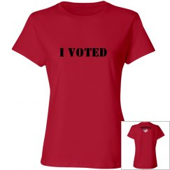I Voted ladies T