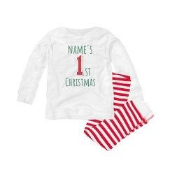 Custom Name Baby's First Christmas Pj's