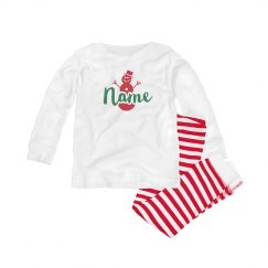 Custom Name Snowman Pj Set
