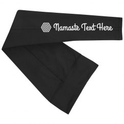 Custom Namaste Yoga Text Legging