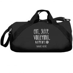 Custom Name Volleyball Duffel Bag