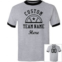 Custom Softball Team Add Name/Number