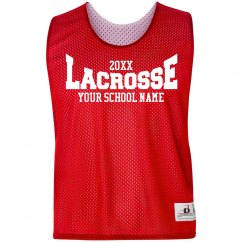 Lacrosse Logo Custom School Pinnie