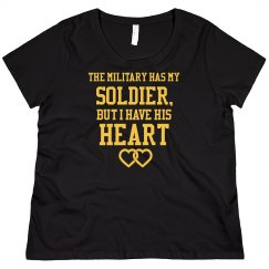 Curvy Custom Army Girlfriend Tee