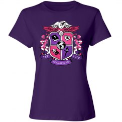 Crest purple shirt