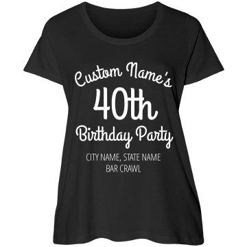 40th Birthday City Style