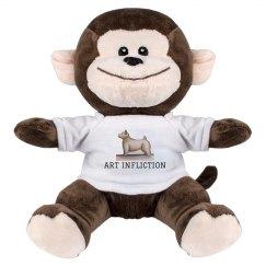 Art Infliction Stuffed Monkey