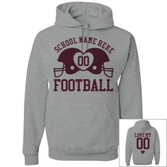 Budget Priced Football Girlfriend Fleece Hoodies