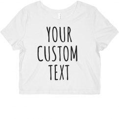 Custom Group Crop Tees
