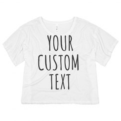 Custom Group Crop Tees