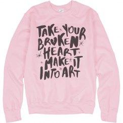 Pink Broken Heart Into Art