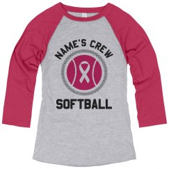 Custom Name's Cancer Softball Shirt