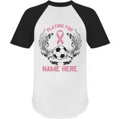 Custom Soccer Cancer Sponsor Tee