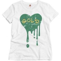 Melting Heart (Green & Gold)