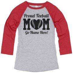 Custom Teeball Mom Pride Jersey