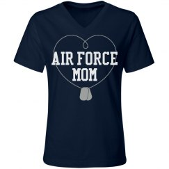 Air Force Dogtag Mom