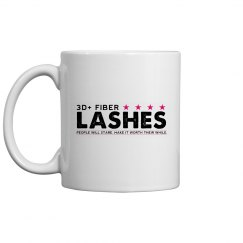 3D + Fiber Lashes Coffee Mug