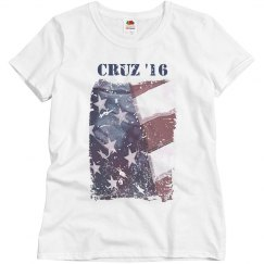 Cruz '16 Distressed Flag