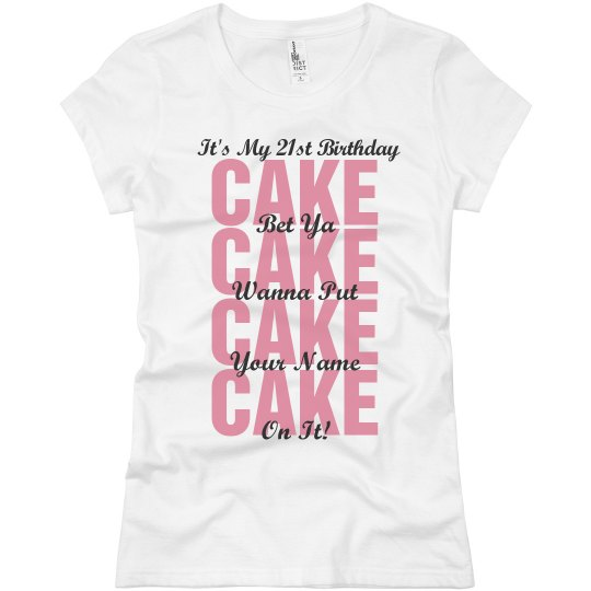 21st Birthday Clubbing Shirt Ladies Slim Fit Basic Promo Jersey T