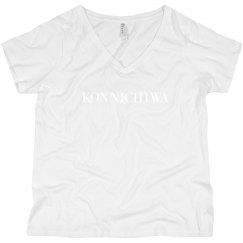 Konnichiwa Black V-Neck Tee