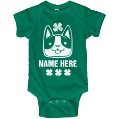 Custom St. Patrick Puppy Onesie