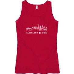 Cleveland Ohio Skyline Baseball