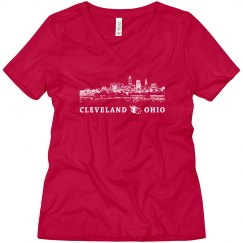 Cleveland Ohio Skyline Baseball