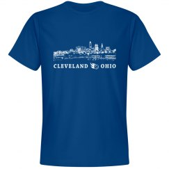 Cleveland Ohio Skyline Baseball Shirt