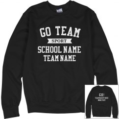 Custom School Team Pride Sweater