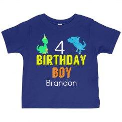 Dinosaur Birthday Boy Neon