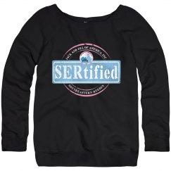 Ladies Wide Neck Sweatshirt