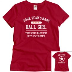 Custom Soccer Ball Girl Shirt