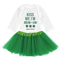 Kiss Me I'm Irish-Ish Custom St. Patrick's Day Baby