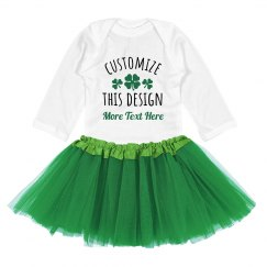 Shamrock Custom Text Tutu Design