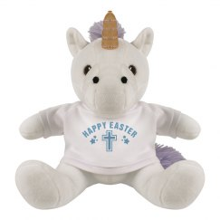 Happy Easter Cross Unicorn Plush
