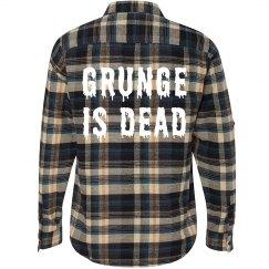 Grunge Is Dead Flannel