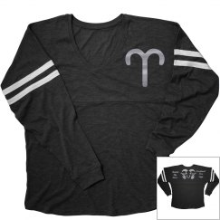 Aries Zodiac Sporty Ladies Long Sleeve