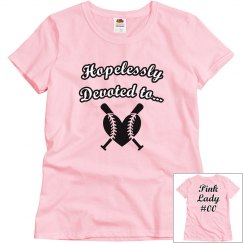 Softball Costume T-shirt - Pink Lady