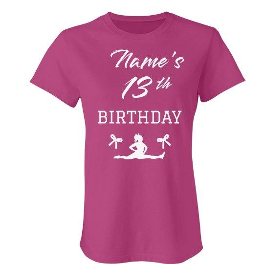 Custom Cheer 13th Birthday Ladies Slim Fit Favorite T Shirt