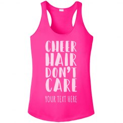 Custom Cheer Hair Don't Care Racerback