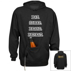 EAT. SLEEP. BEARD. REPEAT. Premium Hoodie